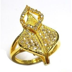 Jewelry - ROUND CUT CUBIC ZIRCONIA RING IN 14K YELLOW GOLD O
